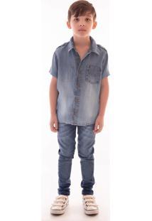 Camisa Mrx Jeans Verão Azul