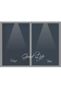 Quadro Porta Rolhas Good Life L Prata