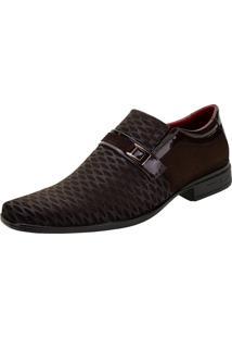 Sapato Masculino Social Bkarellus - 7011 Café 37