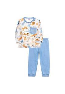 Pijama Peixinho Dourado Dogs Azul