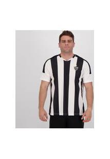 Camisa Atlético Mineiro Frisk Branca E Preta