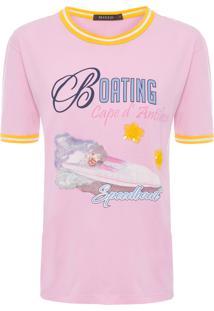 Camiseta Feminina Boating - Rosa