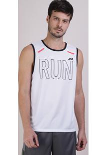 "Regata Masculina Ace ""Run"" Branca"