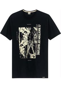 Camiseta Preta Slim Rhythm