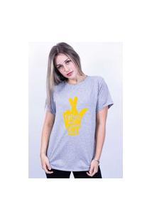Camiseta Bilhan Corte A Fio Figa Gdecinza