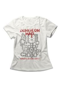 Camiseta Feminina Dungeon Map Off-White