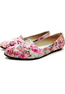 Slipper Comfort Bico Fino Bfprime Estampado Floral