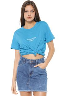 Camiseta Colcci Always Look Ahead Azul