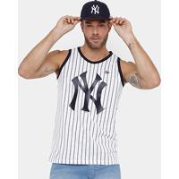 e7a51df55f Camiseta Regata New York Yankees New Era 6 Stripes Masculina - Masculino -Branco