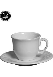 Conjunto 6 Xícaras De Chá Princess Branco Scalla