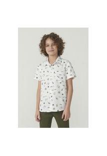Camisa Manga Curta Menino Em Tecido De Viscose