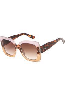 Óculos De Sol Doc Dog Geométrico Glitter Rosa Dourado 7ec3dc98fa
