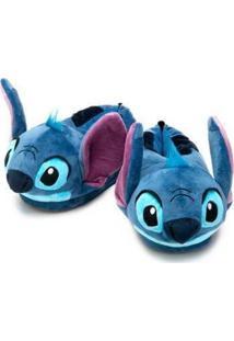 Pantufa 3D Ricsen Stitch - Unissex-Azul