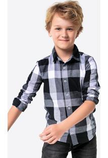 Camisa Infantil Menino Xadrez Em Tecido 100% Algodão Hering Kids