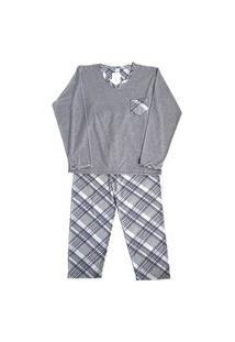 Pijama Malha Juvenil Masculino Crisbel Listrado