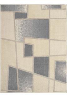 Tapete Art Design Moderno- Bege & Cinza Claro- 200X1Tapete São Carlos