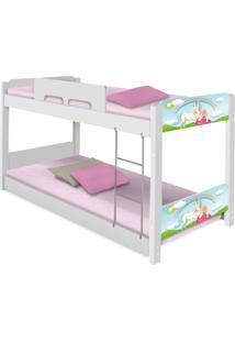 Beliche Baixa Adesivada Princesa Encantada Casah - Branco/Multicolorido - Menina - Dafiti