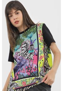 Camiseta Colcci Zebras Verde