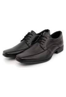 Sapato Social Couro Com Cadarço Masculino Br2 Preto