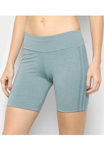 Bermuda Adidas 3 Stripes Tgh Feminina - Feminino-Verde+Preto
