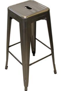 Banqueta Tolix Cor Prata Metalizada 77 Cm (Alt) - 51628 - Sun House