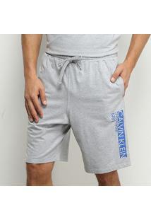 Bermuda Calvin Klein Cotton Masculina - Masculino-Mescla