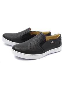 Sapatênis Slip On Preto Diamond