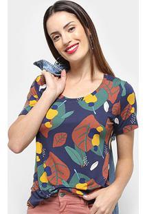 Camiseta Cantão Cajuina Feminina - Feminino-Amarelo Escuro