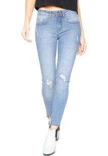 Calça Jeans Calvin Klein Jeans Jegging Destroyed Azul 31f092f749