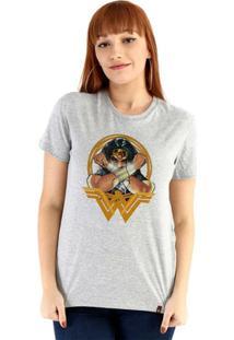 Baby Look Ouroboros Manga Curta Wonder Woman Feminina - Feminino