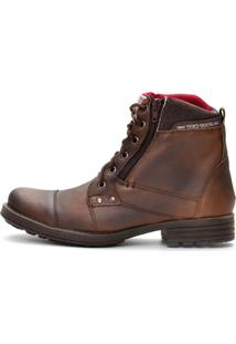 Bota Casual Fortway Ziper Lateral Cafe