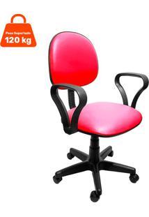 Cadeira De Escritório Secretária Mazikeen Ii Ajustável Vermelha
