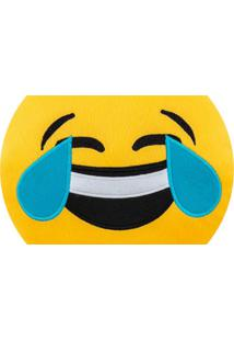 Almofada Capital Do Enxoval Emoji Morrendo De Rir Estampado