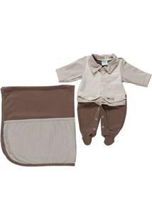 Enxoval Infantil Para Bebê Menino - Bege