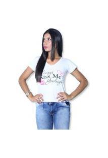 Camiseta Heide Ribeiro Always Kiss Me Goodnight Branco