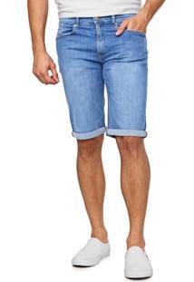 Bermuda Jeans Tommy Jeans Reta Estonada Azul