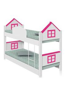 Beliche Infantil Casa Adesivada Rosa Casah