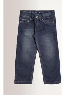 Calça Jeans Infantil Aleatory Masculina - Masculino-Azul Escuro