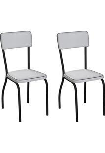 Conjunto Com 2 Cadeiras Nowra Branco E Preto