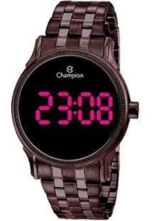 Relógio Champion Digital Ch40204R Feminino - Feminino-Marrom