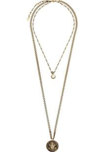 Alexander Mcqueen Layered Pearl Pendant Necklace - Metálico