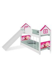 Beliche Infantil Casa Princesa Com Escorregador Casah