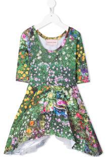 Natasha Zinko Kids Vestido Com Estampa Floral - Verde