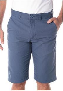 Bermuda Traymon Sarja Chino Regular Amaciada Masculina - Masculino-Azul Escuro