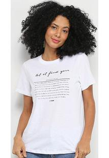 Camiseta T-Shirt Forum Estampada Feminina - Feminino-Branco