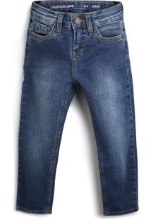Calça Jeans Calvin Klein Kids Menino Estonada Azul