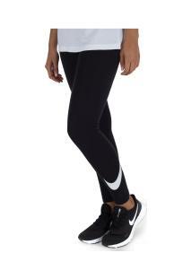 Calça Legging Nike Sportswear Club Hw Swoosh - Feminina - Preto
