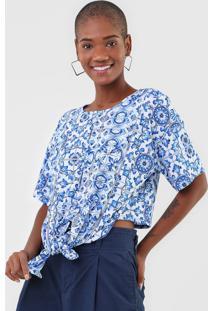 Camiseta Lanã§A Perfume Amarraã§Ã£O Azul - Azul - Feminino - Poliã©Ster - Dafiti