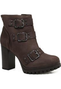 Bota Cano Curto Dakota Ankle Boot Fivelas Feminina - Feminino