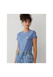 Amaro Feminino T-Shirt Selo Hortência, Indigo